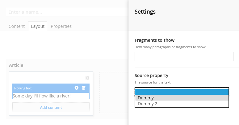 Grid editor with dummy template and settings based on virtual property editors