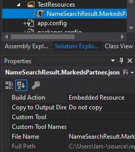 Example resource file in Visual Studio