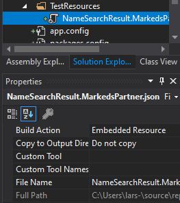 Example resource file in Visual Studio