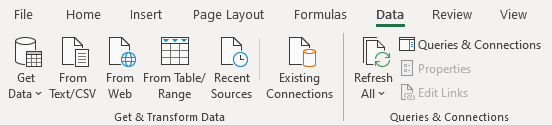 The Excel data bar with new options